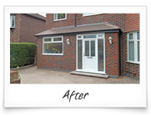 Brick Porch and Garage Extension Manchester